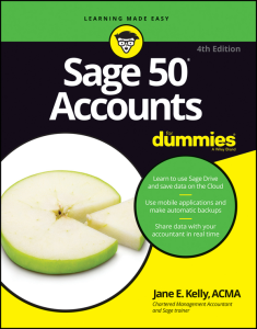 sage 50 accounts for dummies  by jane e. kelly (author)