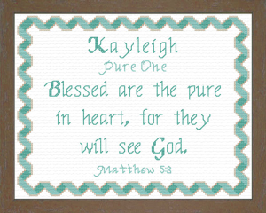 Name Blessings - Kayleigh | Crafting | Cross-Stitch | Religious