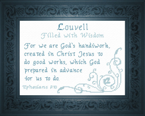 Name Blessings - Louvell | Crafting | Cross-Stitch | Religious