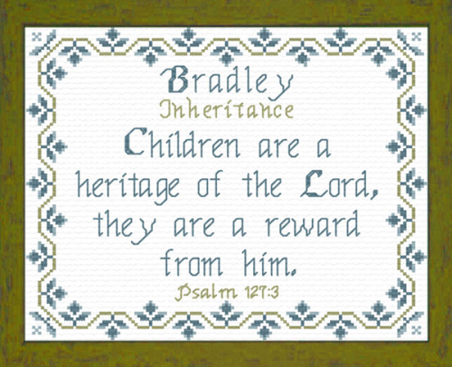 First Additional product image for - Name Blessings - Bradley