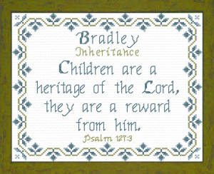 Name Blessings - Bradley | Crafting | Cross-Stitch | Religious