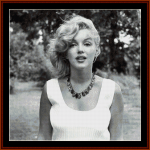 Marilyn with Necklace - Celebrity cross stitch pattern by Cross Stitch Collectibles | Crafting | Cross-Stitch | Wall Hangings
