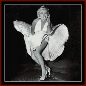 Marilyn's Skirt - Celebrity cross stitch pattern by Cross Stitch Collectibles | Crafting | Cross-Stitch | Wall Hangings