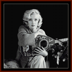 Musical Marilyn - Celebrity cross stitch pattern by Cross Stitch Collectibles | Crafting | Cross-Stitch | Wall Hangings
