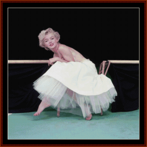 marilyn in tutu - celebrity cross stitch pattern by cross stitch collectibles