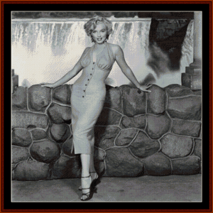Marilyn at Stone Wall - Celebrity cross stitch pattern by Cross Stitch Collectibles | Crafting | Cross-Stitch | Wall Hangings