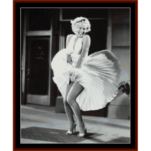Marilyn's Skirt II - Celebrity cross stitch pattern by Cross Stitch Collectibles | Crafting | Cross-Stitch | Wall Hangings