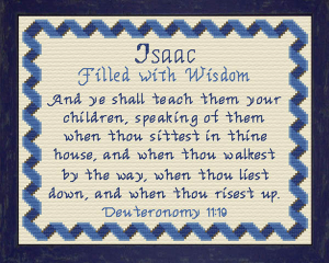 Name Blessings - Isaac | Crafting | Cross-Stitch | Other
