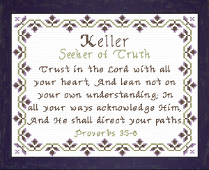 Name Blessings - Keller | Crafting | Cross-Stitch | Other