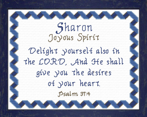 First Additional product image for - Name Blessings - Sharon