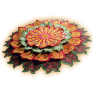 Laura's Mandala - Free-Standing Applique HUS   Crafting   Embroidery