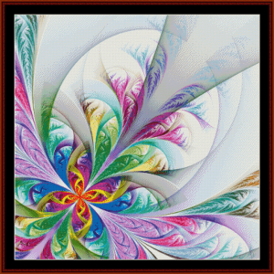 fractal 585 cross stitch pattern by cross stitch collectibles