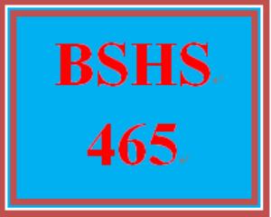 BSHS 465 Week 1 Self-Awareness Video Analysis | eBooks | Education