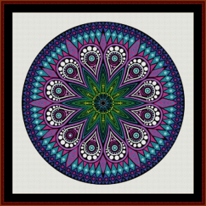 Fractal 587 cross stitch pattern by Cross Stitch Collectibles | Crafting | Cross-Stitch | Wall Hangings