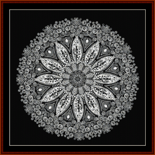 First Additional product image for - Fractal 589 cross stitch pattern by Cross Stitch Collectibles