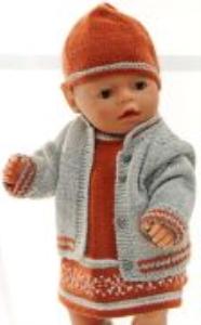 dollknittingpatterns 0158d lerke - kleid, unterhose, jacke, mütze und schuhe-(deutsch)