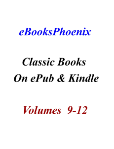 eBooksPhoenix Classic Books On ePub And Kindle  Vol 9-12 | eBooks | Classics