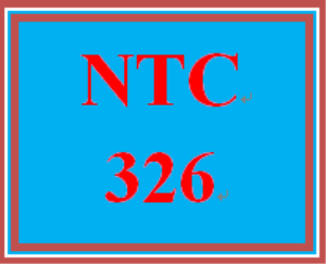 NTC 326 Week 3 Individual: Configuration Scenario | eBooks | Education