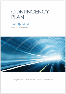 Contingency Plan Templates (MS Word + Excel) | Software | Software Templates