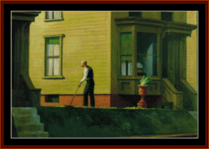 Pennsylvania Coal Town - Edward Hopper cross stitch pattern by Cross Stitch Collectibles | Crafting | Cross-Stitch | Wall Hangings