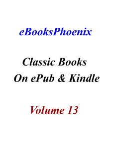ebooksphoenix classic books on epub and kindle  vol 13