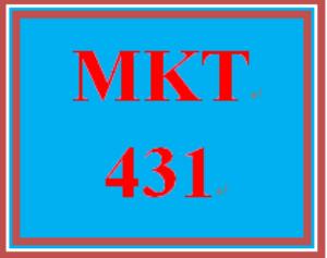 MKT 431 Week 1 LivePlan: Opportunity | eBooks | Education