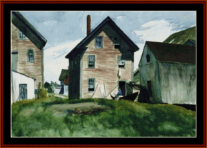 Gloucester Mansion - Edward Hopper cross stitch pattern by Cross Stitch Collectibles | Crafting | Cross-Stitch | Wall Hangings