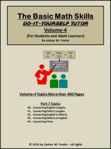Basic Math Skills DIY-Tutor Vol-4 | eBooks | Self Help