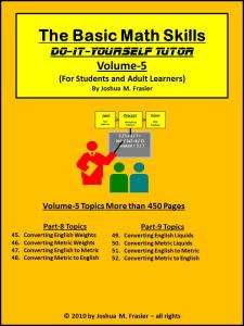 Basic Math Skills DIY-Tutor Vol-5 | eBooks | Self Help