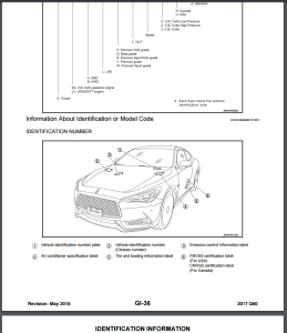 2017 Infiniti Q60 Coupe CV37 Service Repair Manual & Wiring Diagram | eBooks | Technical