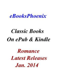 eBooksPhoenix Classic Books Romance Jan. 2014 | eBooks | Romance