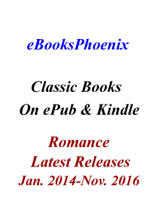 eBooksPhoenix Classic Books Romance Jan. 2014-Nov. 2016 | eBooks | Romance