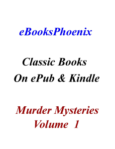 eBooksPhoenix Classics Murder Mystery Vol. 1 | eBooks | Mystery and Suspense