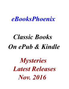 eBooksPhoenix Classic Books Mystery Nov. 2016 | eBooks | Mystery and Suspense