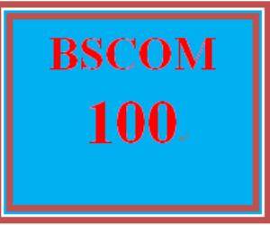 BSCOM 100 Week 2 Interview Activity | eBooks | Education