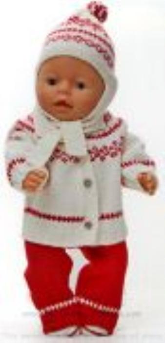 First Additional product image for - DollKnittingPatterns 0159D SOPHIA - Kofte, dress, lue og sko-(Norsk)