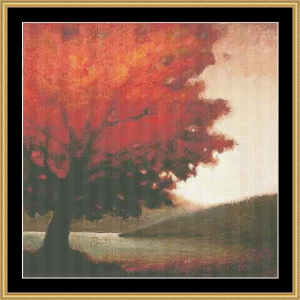 autumn solitude cross stitch pattern by mystic stitch