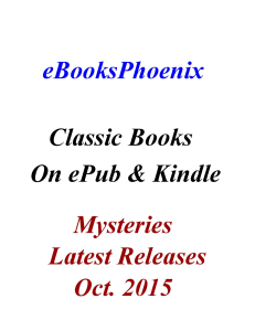eBooksPhoenix Classic Books Mystery Oct. 2015 | eBooks | Mystery and Suspense