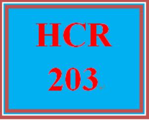 HCR 203 Entire Course | eBooks | Education