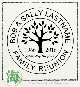 anniversary reunion family tree template