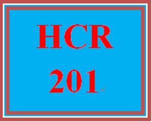 HCR 201 Entire Course | eBooks | Education