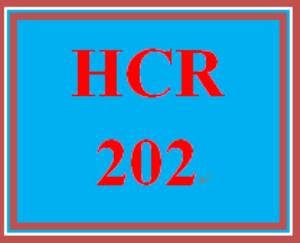 HCR 202 Entire Course | eBooks | Education
