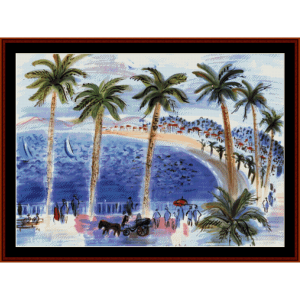 La Promenade des Anglais - Custom pattern by Cross Stitch Collectibles | Crafting | Cross-Stitch | Wall Hangings