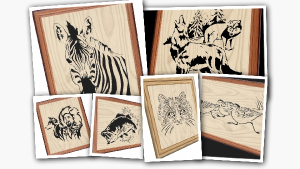 scroll saw patterns - 6 pack animals