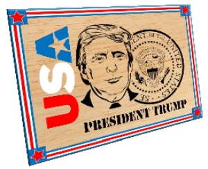 scroll saw pattern president donald trump