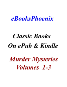 eBooksPhoenix Classics Murder Mysteries Vol 1-3 | eBooks | Mystery and Suspense