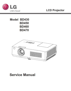 LG BD430 Projector Factory Service Manual & Repair Guide | eBooks | Technical