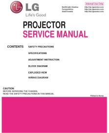 LG BS254 Projector Factory Service Manual & Repair Guide | eBooks | Technical