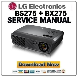 lg bs275 bx275 projector factory service manual & repair guide