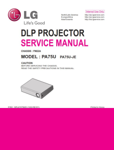 LG PA75U Projector Factory Service Manual & Repair Guide | eBooks | Technical